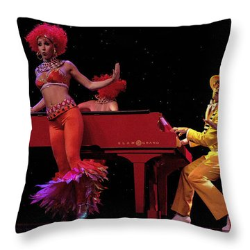 I Love Rock And Roll Music Throw Pillow by Bob Christopher