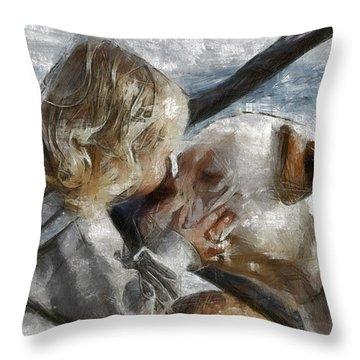 I Love You Throw Pillow by Georgi Dimitrov