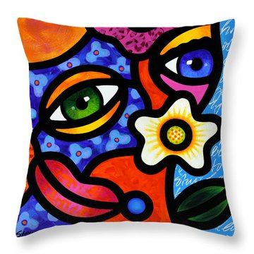 I Think I Like You Throw Pillow by Steven Scott
