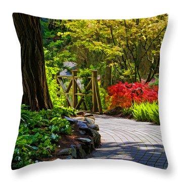 I Walk Through The Garden Alone Throw Pillow by Jordan Blackstone