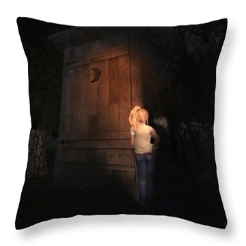 I Was Six Throw Pillow by Kylie Sabra