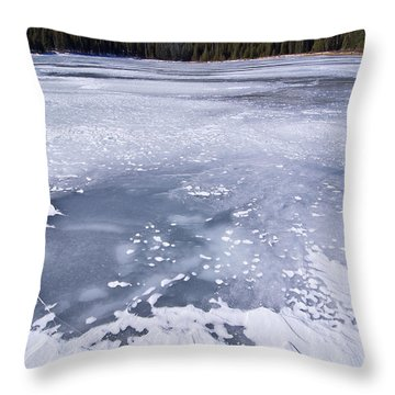 Ice And Snow Of Brainard Lake Throw Pillow by Benjamin Reed