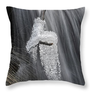 Ice And Water Throw Pillow by Dan Friend