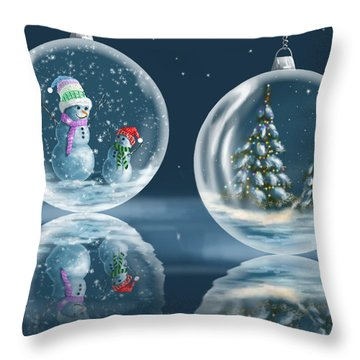 Ice Balls Throw Pillow by Veronica Minozzi