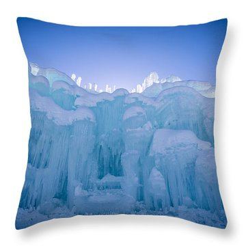 Ice Castle Throw Pillow by Edward Fielding