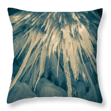 Ice Cave Throw Pillow by Edward Fielding