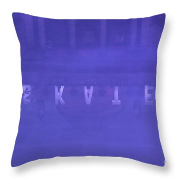 Ice Rink At Somerset House Throw Pillow by Jasna Buncic