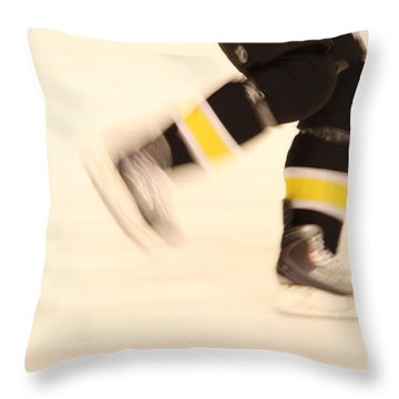Ice Speed Throw Pillow by Karol Livote