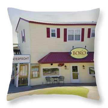 Icehouse Waterfront Restaurant 1 Throw Pillow by Lanjee Chee