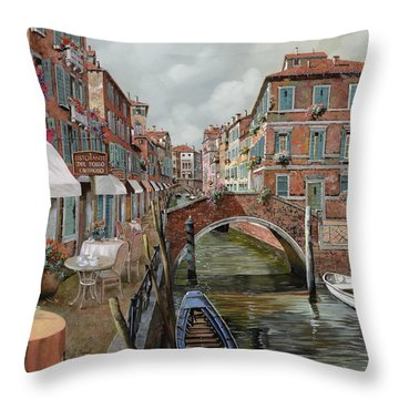 Il Fosso Ombroso Throw Pillow by Guido Borelli