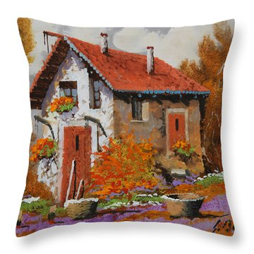 Il Prato Viola Throw Pillow by Guido Borelli