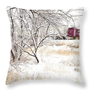 I'll Be Home For Christmas Throw Pillow by Theresa Tahara