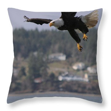 I'm Coming In For A Landing Throw Pillow by Kym Backland