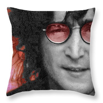 Imagine John Lennon Again Throw Pillow by Tony Rubino