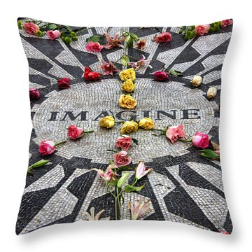 Imagine Throw Pillow by June Marie Sobrito
