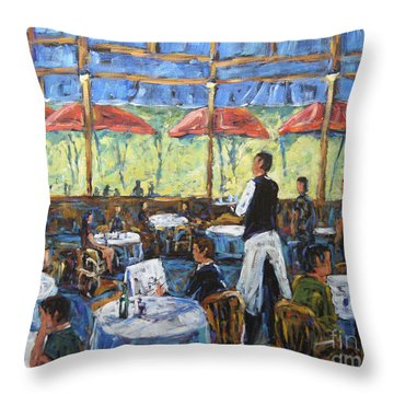 Impresionnist Cafe By Prankearts Throw Pillow by Richard T Pranke