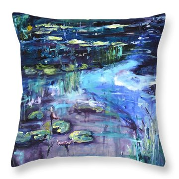 Impressions Of Giverny Throw Pillow by Donna Tuten