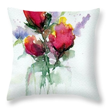 In A Vase Throw Pillow by Anne Duke