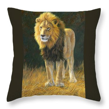 In His Prime Throw Pillow by Lucie Bilodeau