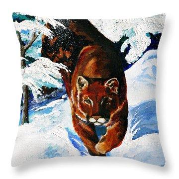 In Pursuit Throw Pillow by Karon Melillo DeVega
