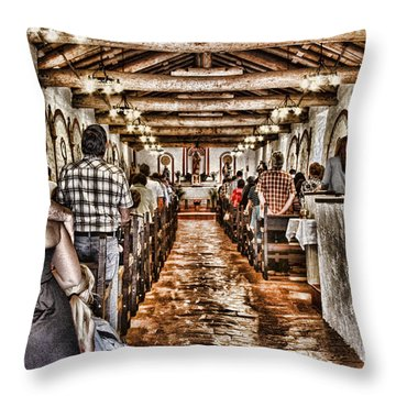 In Service Mission San Antonio De Pala By Diana Sainz Throw Pillow by Diana Sainz