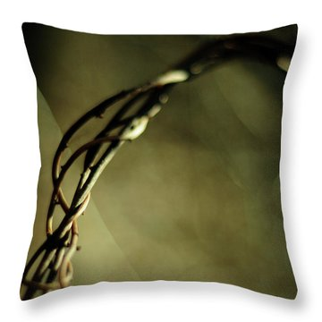 In Shadows And Light Throw Pillow by Rebecca Sherman