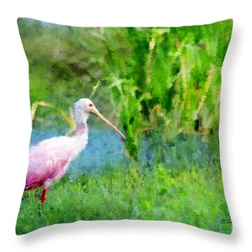 In The Bayou #1 Throw Pillow by Betty LaRue