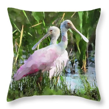 In The Bayou #2 Throw Pillow by Betty LaRue