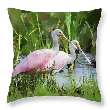 In The Bayou #3 Throw Pillow by Betty LaRue