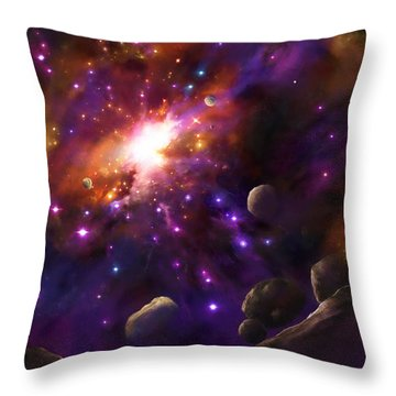 In The Beginning... Throw Pillow by Tamer and Cindy Elsharouni