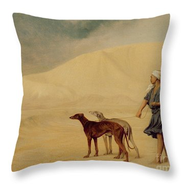 In The Desert Throw Pillow by Jean Leon Gerome