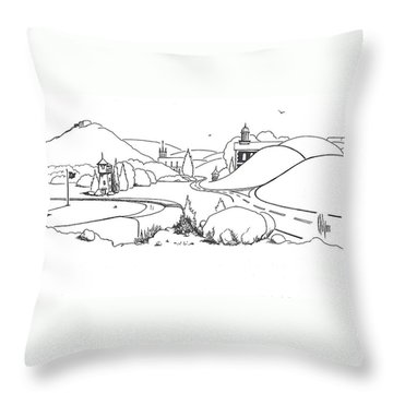 In The Land Of Brigadoon  Throw Pillow by Kip DeVore