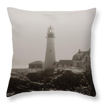 In The Mist Throw Pillow by Joann Vitali