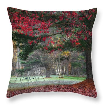 In The Park Throw Pillow by Bill Wakeley