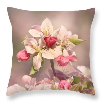 In The Pink Throw Pillow by Kim Hojnacki