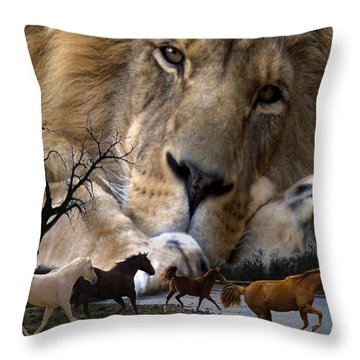 In The Presence Of Elohim Throw Pillow by Bill Stephens
