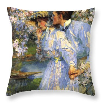 In The Springtime Throw Pillow by James Shannon