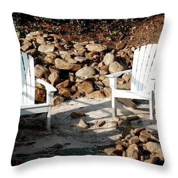 In Waiting Throw Pillow by James C Thomas