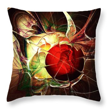 Incoming Bullet Throw Pillow by Anastasiya Malakhova