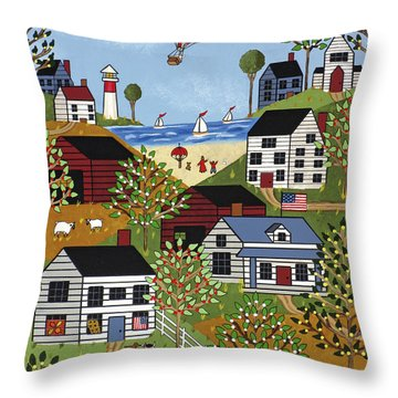 Independence Day Throw Pillow by Medana Gabbard