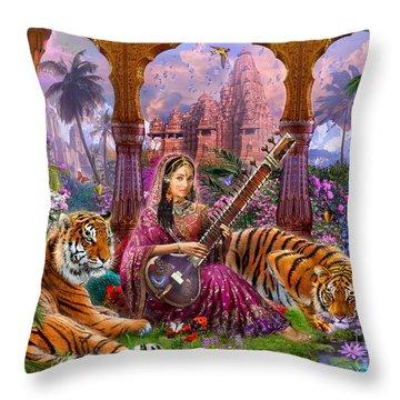 Indian Harmony Throw Pillow by Jan Patrik Krasny