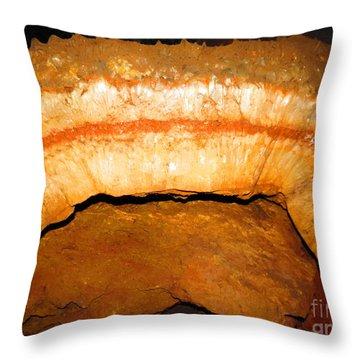 Indian Headdress. Sitting Bull Crystal Caverns Throw Pillow by Ausra Huntington nee Paulauskaite