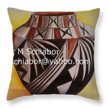 Indian Pottery Throw Pillow by Eric  Schiabor
