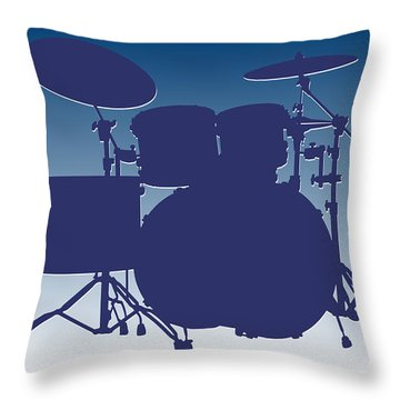 Indianapolis Colts Drum Set Throw Pillow by Joe Hamilton