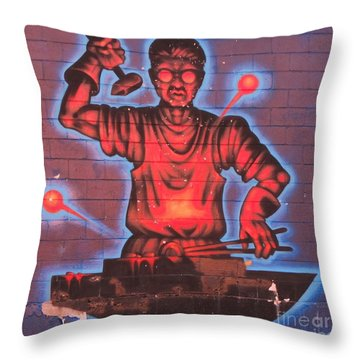 Industry  Throw Pillow by John Malone