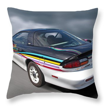 Indy 500 Pace Car 1993 - Camaro Z28 Throw Pillow by Gill Billington