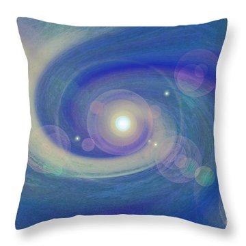 Infinity Blue Throw Pillow by First Star Art