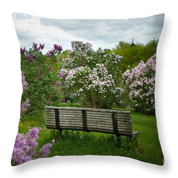 Inhale Throw Pillow by Ken Marsh