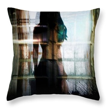 Inside Or Outside Throw Pillow by Gun Legler