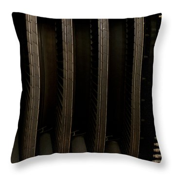 Inside The Engine Throw Pillow by Christi Kraft